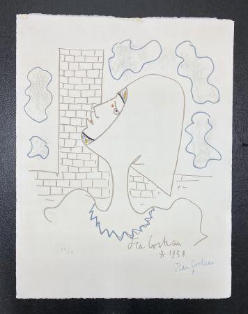 Litografia Cocteau - Chevaliers de la table ronde