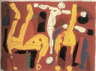 Litografia Marini - Chevaux et Cavaliers V