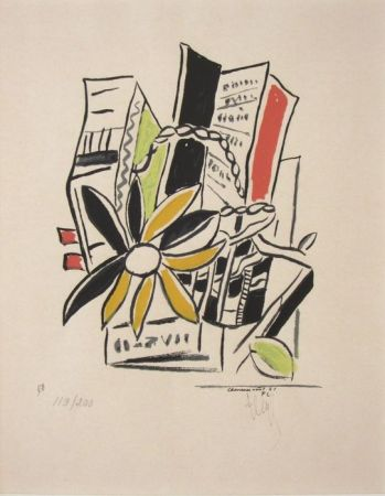 Serigrafia Leger - Chevreuse Août - 1951