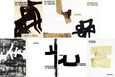 Libro Illustrato Chillida - CHILLIDA : Collection complète des 7 volumes de la revue DERRIÈRE LE MIROIR consacrés à Chillida (parus de 1956 à 1980)