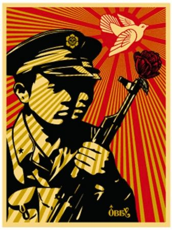Serigrafia Fairey - Chinese Soldiers
