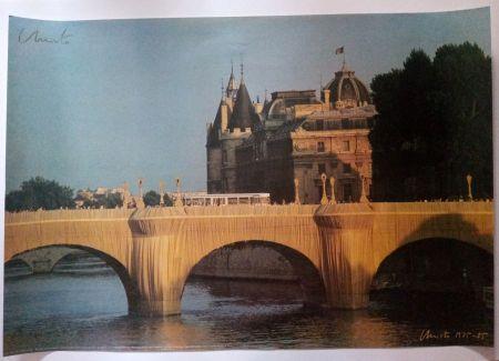 Manifesti Christo - Christo's Wrapped Pont Neuf Paris - Handsigned