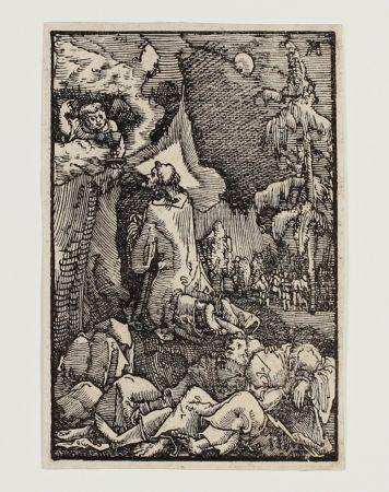 Incisione Su Legno Altdorfer - Christus am Ölberg (Christ on the Mount of Olives)