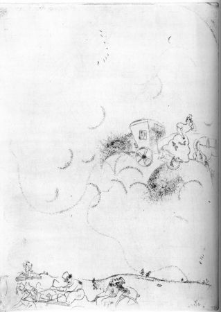 Acquaforte Chagall - Cicicov's Dream