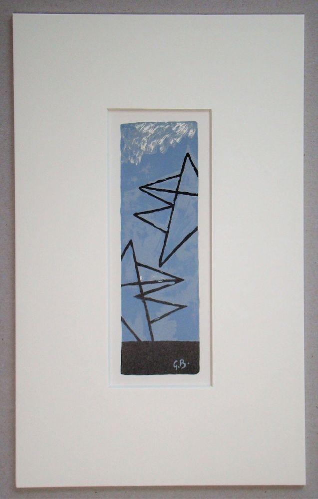Litografia Braque (After) - Ciel Gris II.