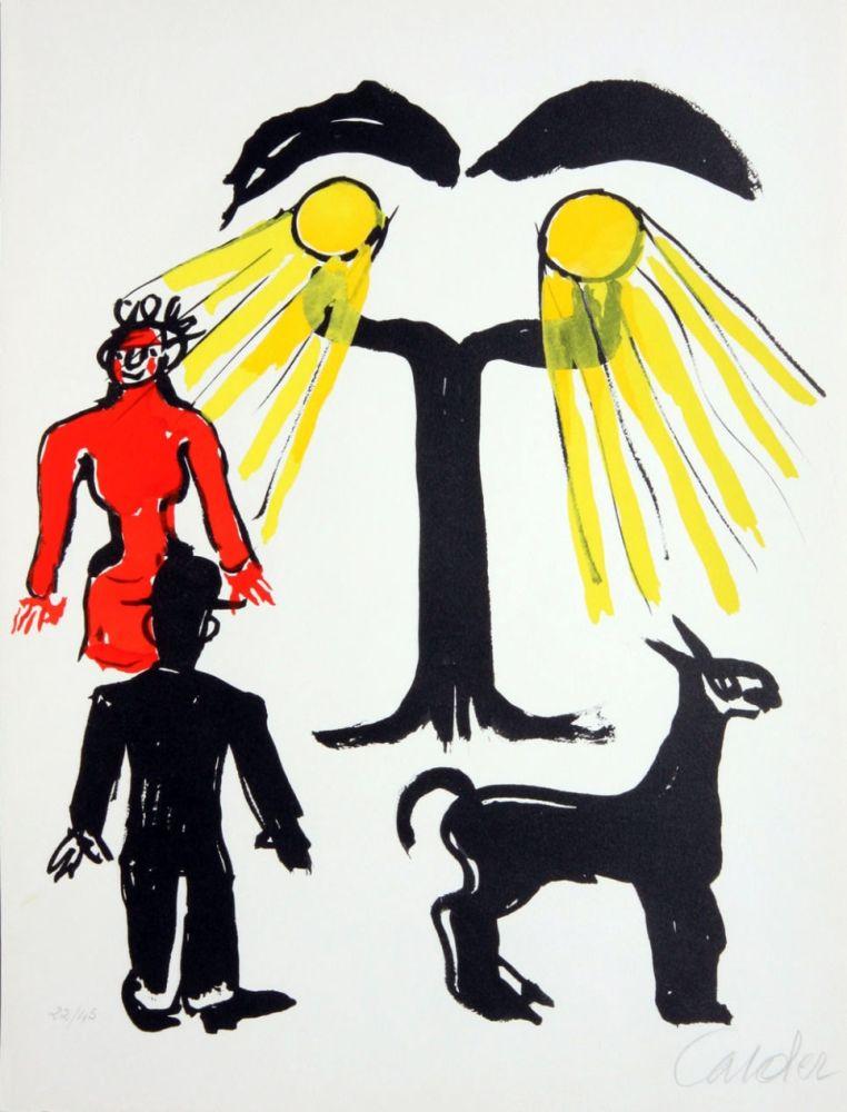 Litografia Calder - Cinema / Hommage a Man Ray
