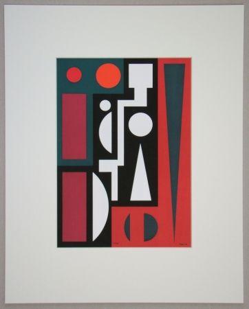 Serigrafia Herbin - Cinq, 1954
