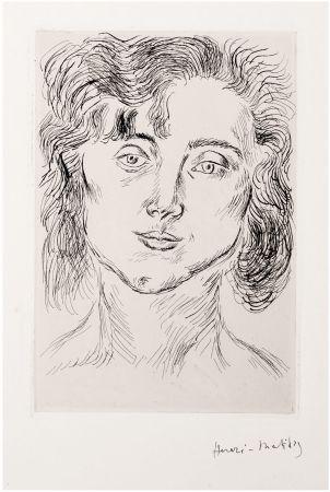 Acquaforte Matisse - CINQUANTE DESSINS. GRAVURE ORIGINALE SIGNÉE : La fille de l'artiste (1920).