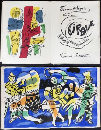 Libro Illustrato Leger - CIRQUE. Lithographies originales de Fernand Léger. Tériade 1960