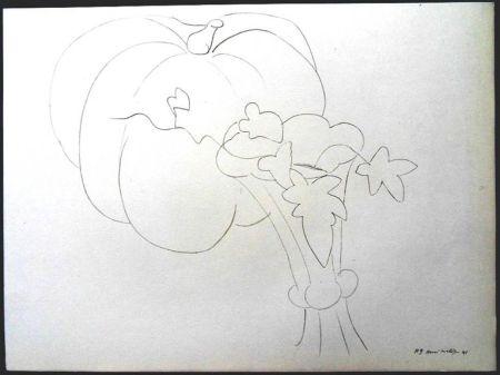 Litografia Matisse - Citrouille et Fleurs