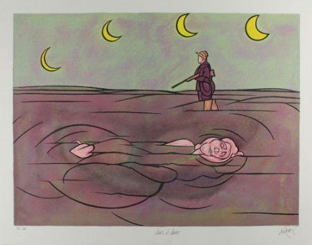 Litografia Adami - Clair de lune
