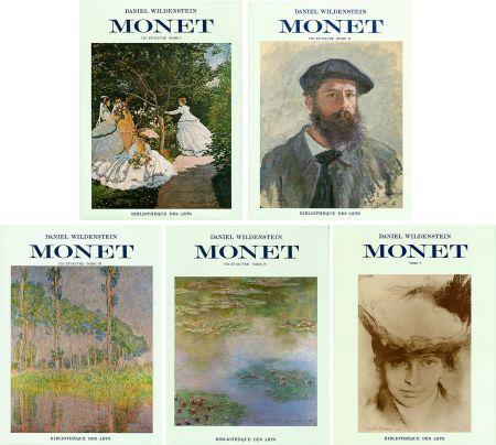 Libro Illustrato Monet - CLAUDE MONET. CATALOGUE RAISONNÉ (Peintures, pastels et dessins). 5 volumes. 1974-1991