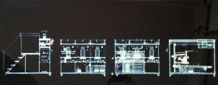 Multiplo Delvoye - Cloaca x rayed B/W