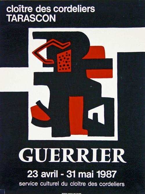 Litografia Guerrier - Cloitre des Cordeliers Tarascon