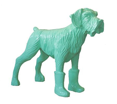 Multiplo Sweetlove - Cloned pistachio dog with plastic boots