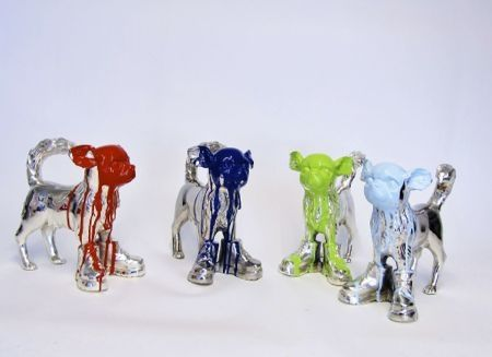Multiplo Sweetlove - Cloned Silver plated Chihuahua