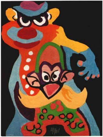 Incisione Su Legno Appel - Clown Anti-Robot