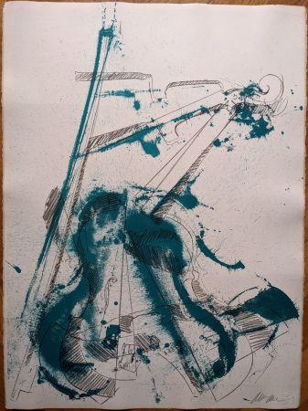 Litografia Arman - Colère de violon I
