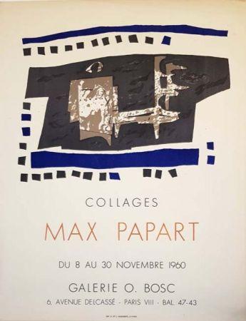 Litografia Papart - Collages Galerie O  Bosc