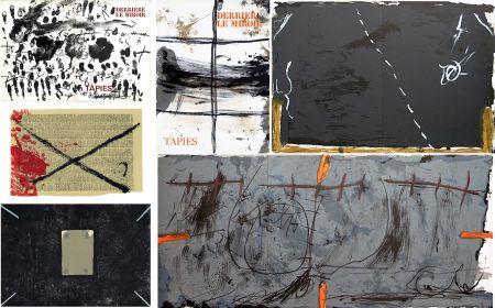 Libro Illustrato Tàpies - COLLECTION COMPLÈTE des 7 volumes de la revue DERRIÈRE LE MIROIR consacrés à Antoni Tàpies: 30 LITHOGRAPHIES (de 1967 à 1982).
