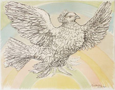 Litografia Picasso - Colombe À L'arc En Ciel