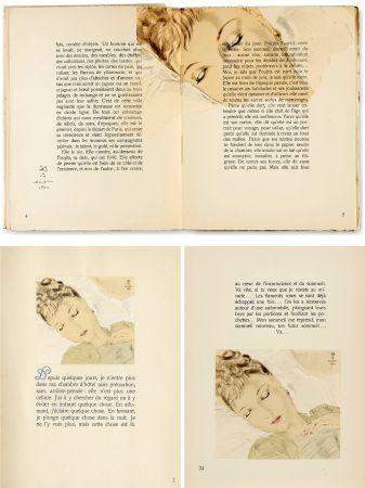 Libro Illustrato Foujita - COMBAT AVEC L'IMAGE. (J. Giraudoux) Avec un dessin de Foujita (1941).