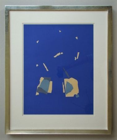 Litografia De Stael - Comosition sur fond bleu