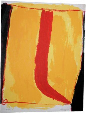 Serigrafia Guerrero - Composición en amarillo y rojo