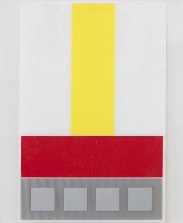 Multiplo Soto - Composicion en Amarillo Blanco y Rojo