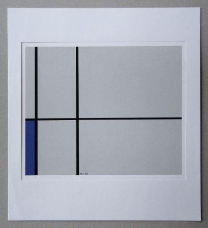 Serigrafia Mondrian - Compositie met blauw - 1938