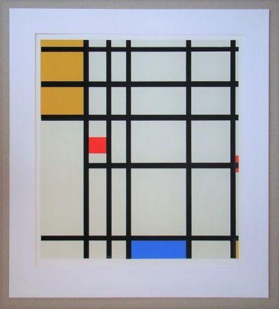 Serigrafia Mondrian - Compositie met rood, geel en blauw - 1936/43