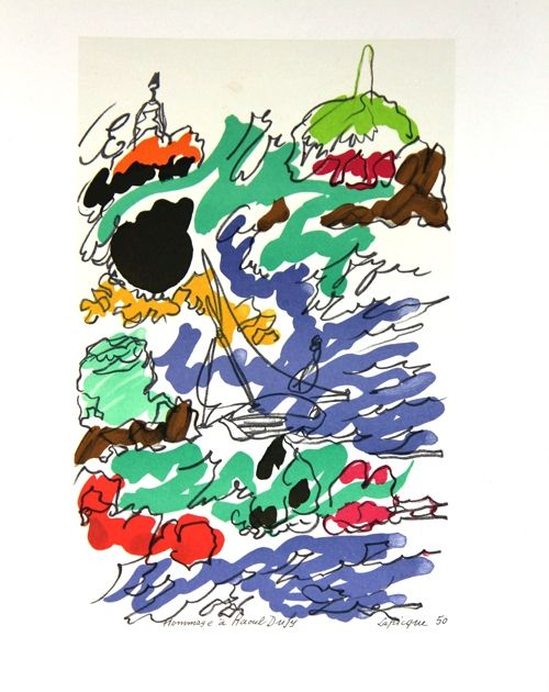 Litografia Lapicque - Composition