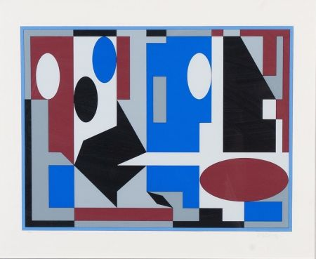 Litografia Vasarely - Composition