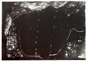 Litografia Tàpies - Composition