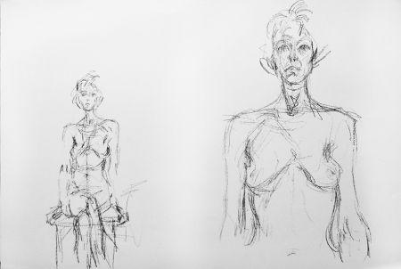 Litografia Giacometti - Composition