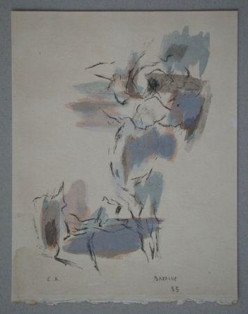 Litografia Bazaine - Composition