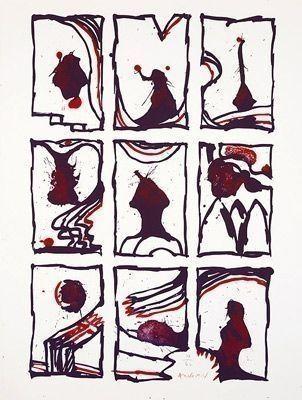 Litografia Alechinsky - Composition