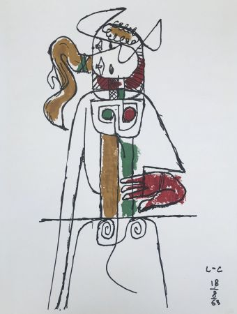 Litografia Le Corbusier - Composition