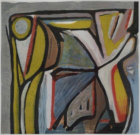 Litografia Van Velde - Composition