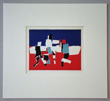 Litografia De Stael - Composition - 1951