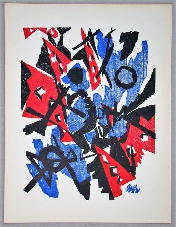 Incisione Su Legno Nay - Composition - 1953