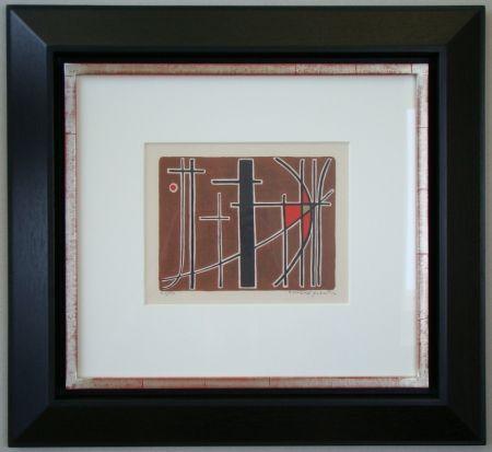 Litografia Quentin - Composition - 1956