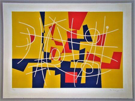 Litografia Leuppi - Composition - 1958