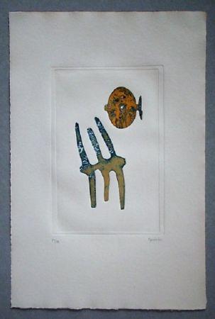 Acquatinta Springer - Composition - 1970