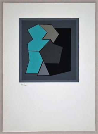 Serigrafia Vasarely - Composition - Geh Durch Den Spiegel