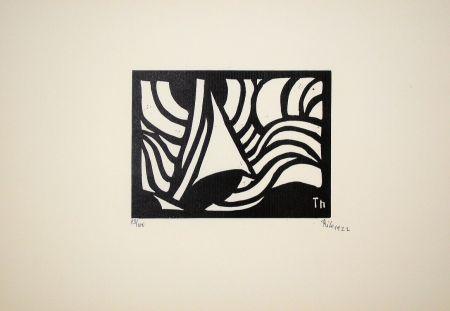Incisione Su Legno Maatsch - Composition, 1922