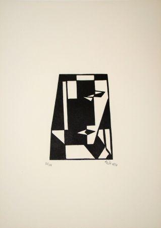 Incisione Su Legno Maatsch - Composition, 1926