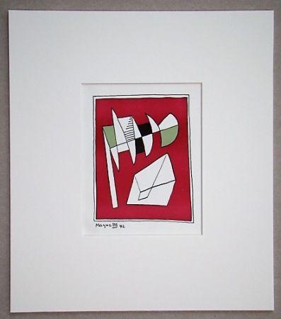 Litografia Magnelli - Composition, 1942