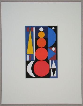 Serigrafia Herbin - Composition, 1949