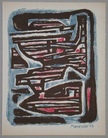 Litografia Manessier - Composition, 1953